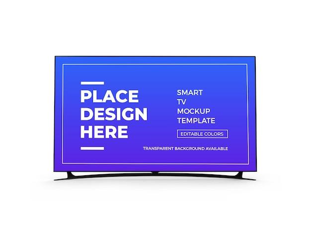 Smart tv 3d mockup design