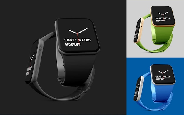 Mockup di set di smart watch
