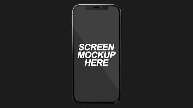 Smartphone 12 pro max black mockup psd