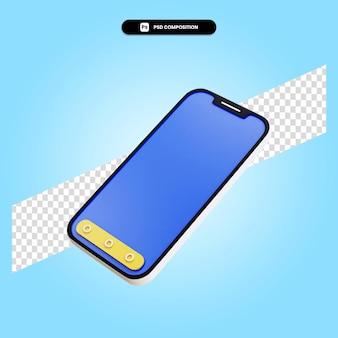 Smartphone 3d rende l'illustrazione isolata