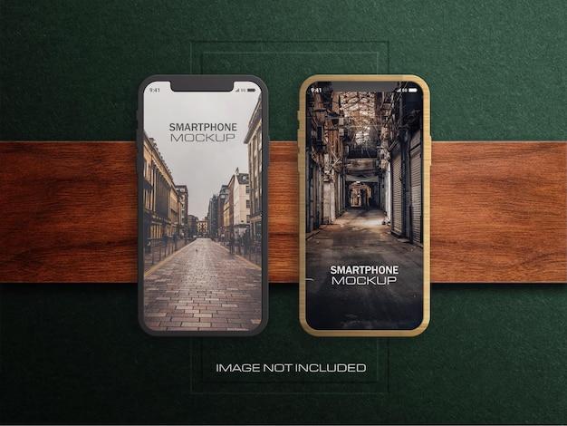 Smartphone o dispositivo android mockup premium psd