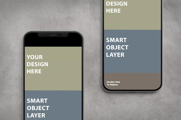 Mockup di app per smartphone