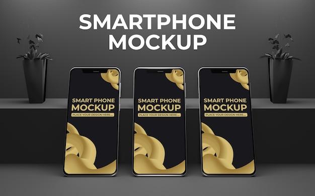 Mockup di presentazione dell'app per smartphone