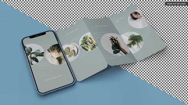 Mockup dello schermo dell'app per smartphone Psd Premium