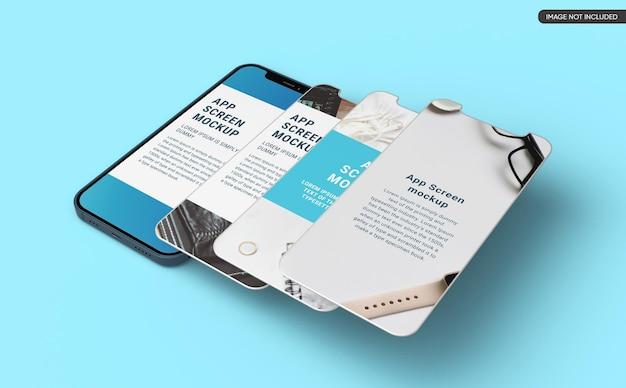 Mockup dello schermo dell'app per smartphone