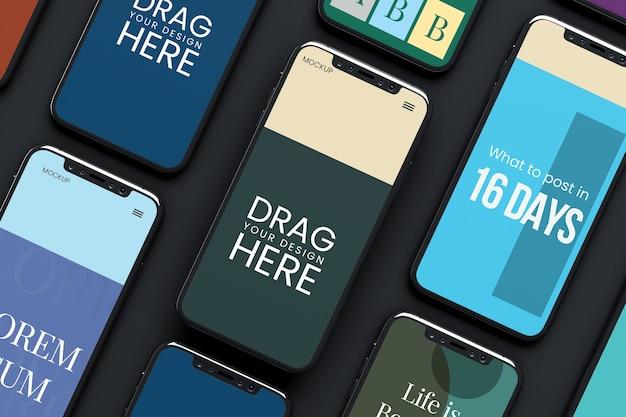 Mockup della schermata dell'app per smartphone