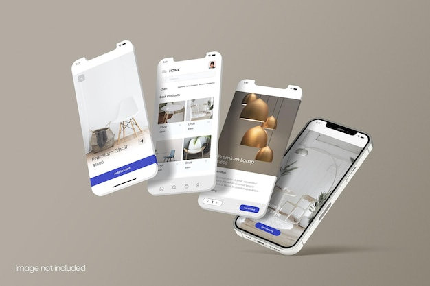 Smartphone per mockup dello schermo delle app