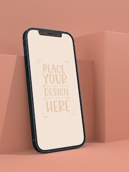 Mockup di schermo vuoto senza cornice per smartphone