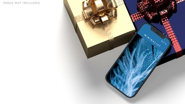 Smartphone mockup per il business globale dell'identità del marchio