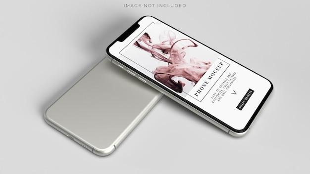 Mockup di smartphone per l'identità del marchio