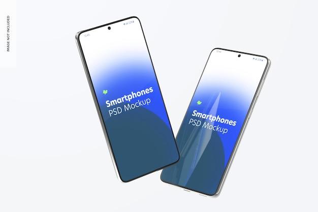 Smartphone mockup, galleggiante