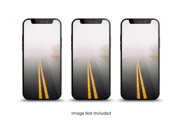 Smartphone mockup design isolato nel rendering 3d