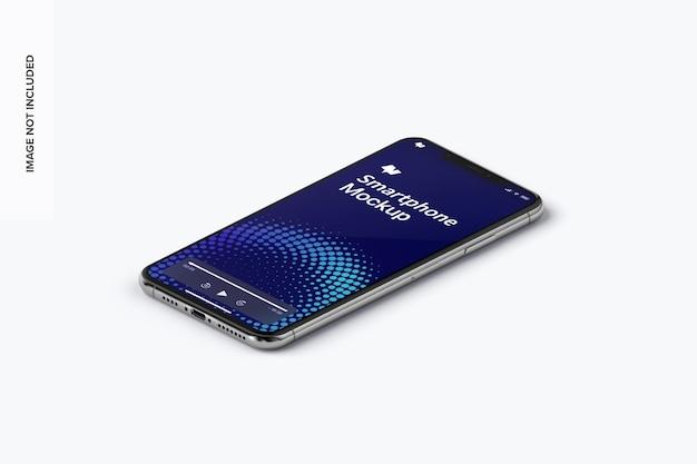 Vista isometrica del mockup dello smartphone
