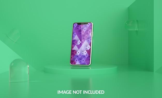 Modello di smartphone sul podio