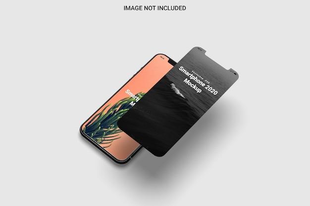 Mockup di smartphone vista destra isolata