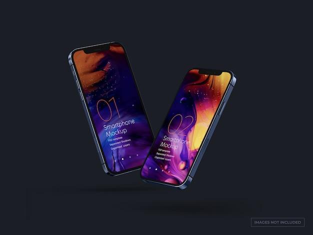 Smartphone mockup per i disegni dell'interfaccia utente Psd Premium