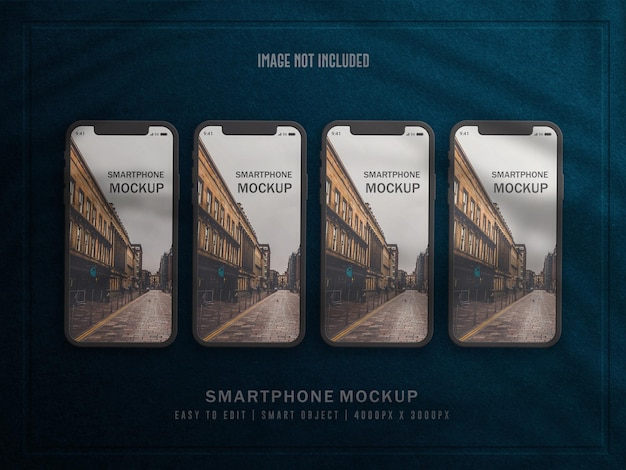 Smartphone o dispositivo multimediale mockup