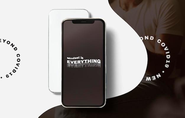 Dispositivo digitale mockup schermo psd per smartphone