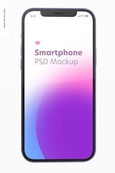 Mockup di versione viola dello smartphone, vista frontale