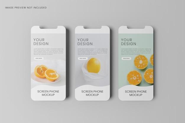 Schermo dello smartphone per mockup di app