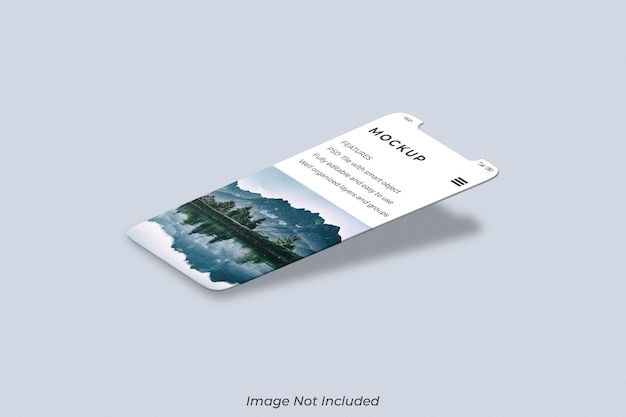Schermo dello smartphone per il mockup di presentazione dell'app ui ux