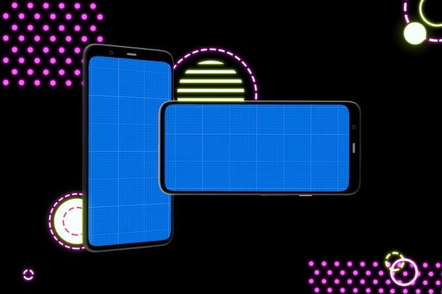 Smartphone con schermata mockup per la presentazione di app