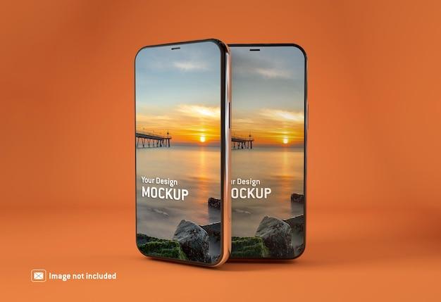 Schermo di mockup di smartphone isolato