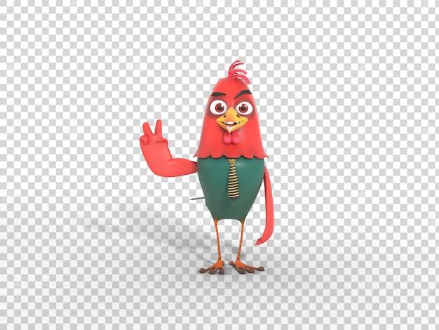 Illustrazione variopinta sorridente della mascotte del carattere 3d con fondo trasparente