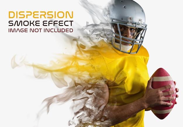 Effetto fotografico di dispersione del fumo