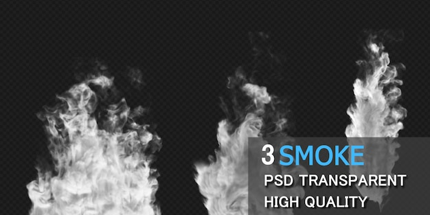 Rendering di progettazione di esplosione di fumo isolato