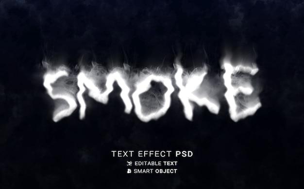 Scrittura effetto testo fumo