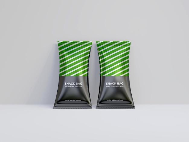 Snack bag packaging mockup premium psd