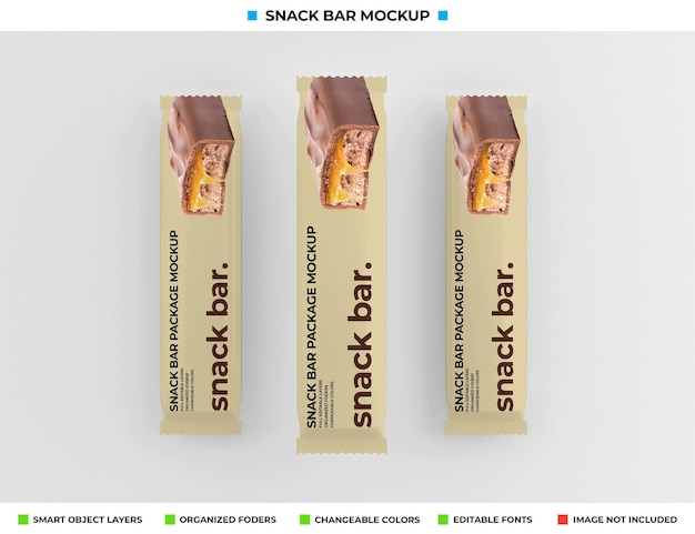Mockup di snack bar isolato