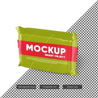 Snack bar package mockup design