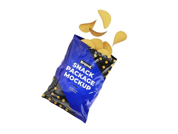 Modello di mockup del pacchetto di snack