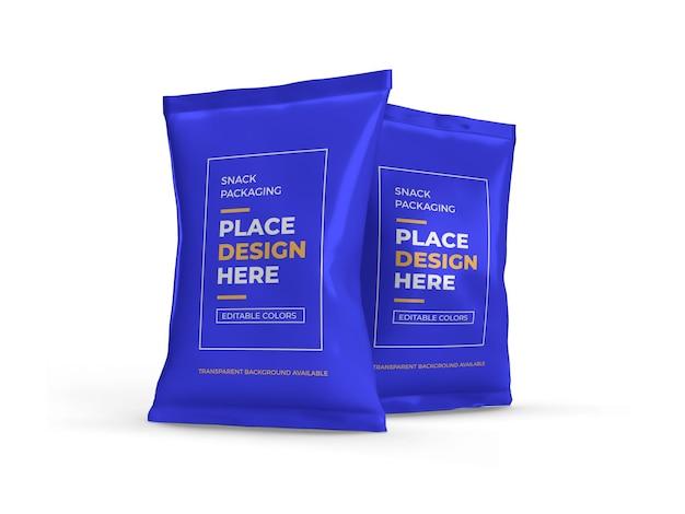 Snack packaging design mockup isolato