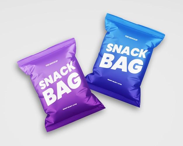 Mockup di confezionamento snack