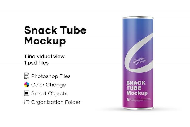 Mockup di snack tube
