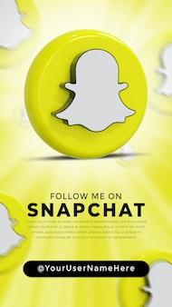Logo lucido di snapchat e icone dei social media story