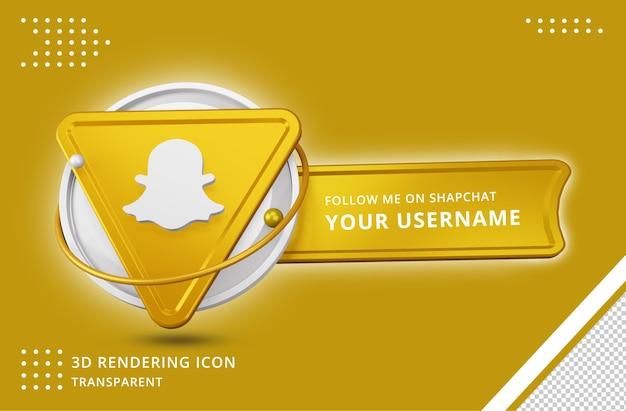Icona del profilo snapchat nel rendering 3d