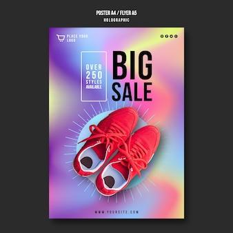 Modello di poster di vendita di scarpe da ginnastica