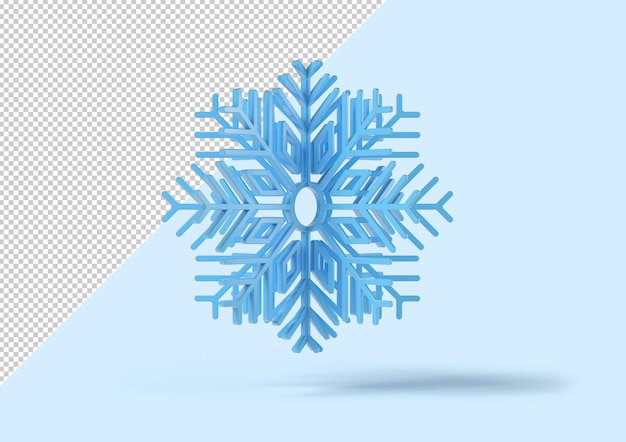 Fiocco di neve da sfondo blu, mockup