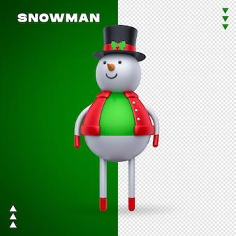 Pupazzo di neve 3d nel rendering 3d