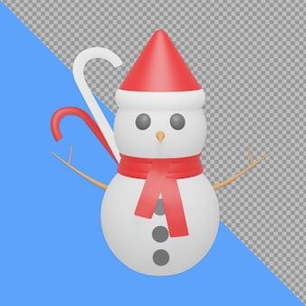 Pupazzo di neve design rendering isolato