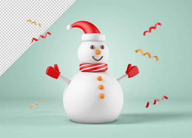 Modello di pupazzo di neve, concetto di natale e capodanno