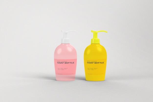 Modello di bottiglia di sapone Psd Premium