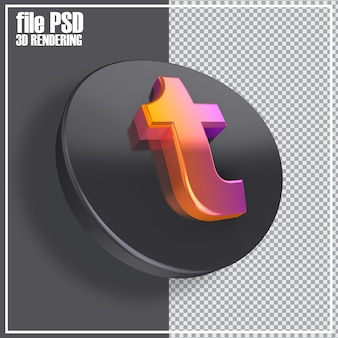 Rendering delle icone 3d dei social media