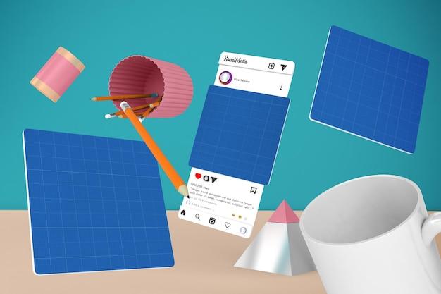 Desktop dei social media