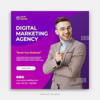 Modello di banner post instagram social media con concetto aziendale moderno modello post instagram