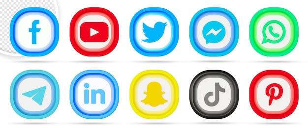 Collezione di loghi sui social media